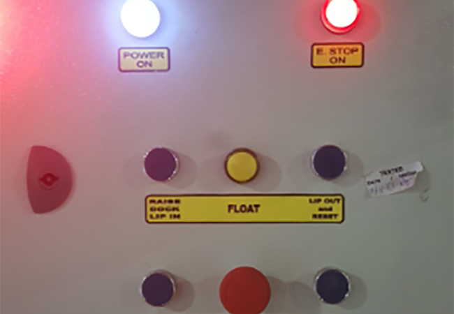 Controls of a Dock Shelter